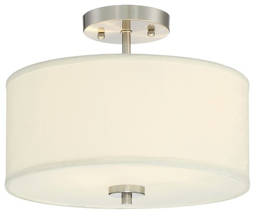 Catalog Lighting Flush Mounts 2 Light Semi Flush Mount Brushed Nickel